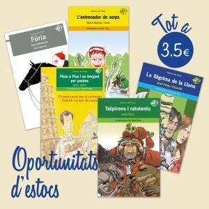 llibres rebaixats, llibres a 3,5€, llibres barats, oportunitat estocs